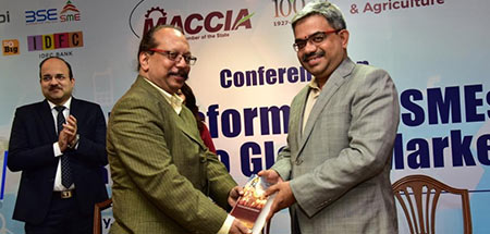 V Srinivasan spoke at Conference on Transforming MSMES – Route To Global Markets organized by MACCIA